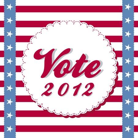 presidency: vote 2012 background with stripes. vector illustration Illustration