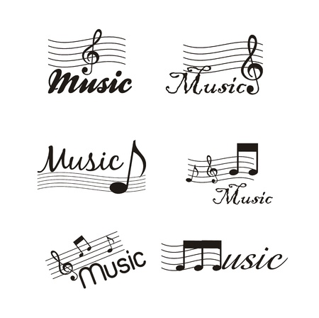 musical icons isolated over white background. vector illustration Vector