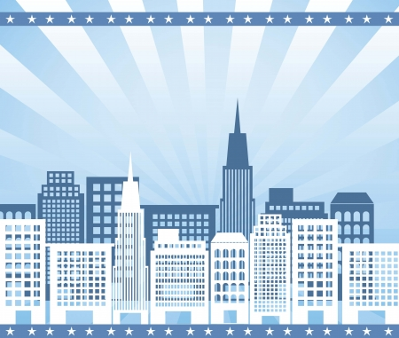 silhouettte buildings over blue background. vector illustration Vector