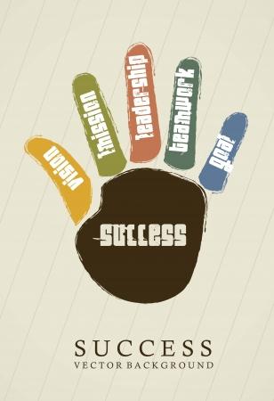 conceito: conceitual de sucesso ao longo m Ilustração