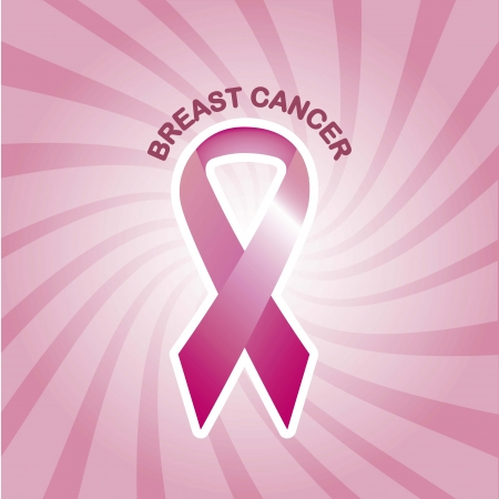 cancer woman:  pink awareness ribbons, breats cancer