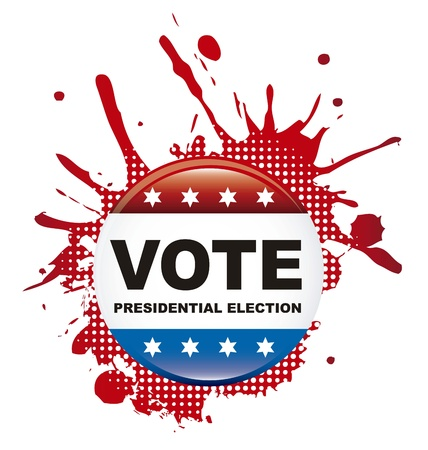 nomination: votar signo elecci�n presidencial sobre el fondo blanco Vectores