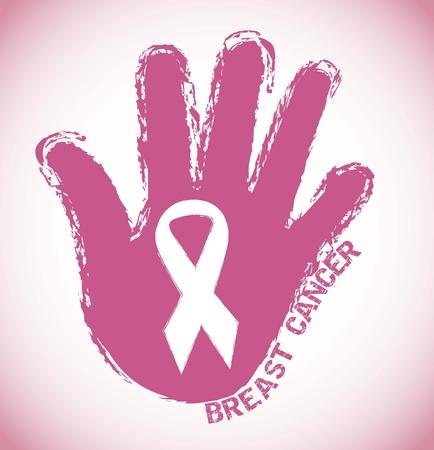 cancer woman: breast cancer, pink grunge symbol
