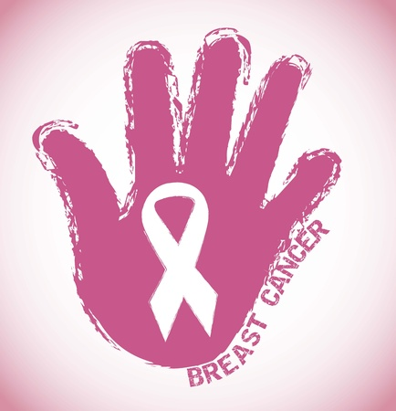 cancer symbol: c�ncer de mama, rosa grunge s�mbolo
