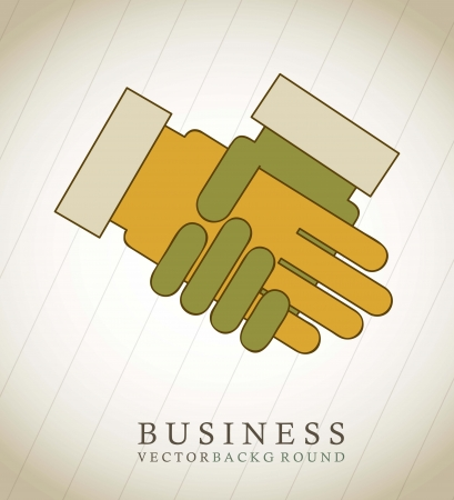 buisnessman: hands buisnessman over vintage background Illustration