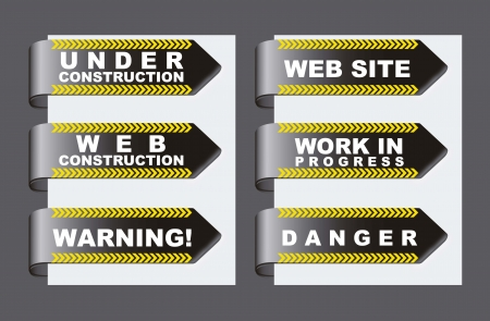 under construction tags over gray background Stock Vector - 15285869