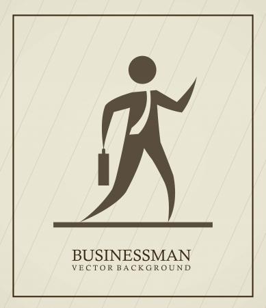 businessman over vintage background Stock Vector - 15285878