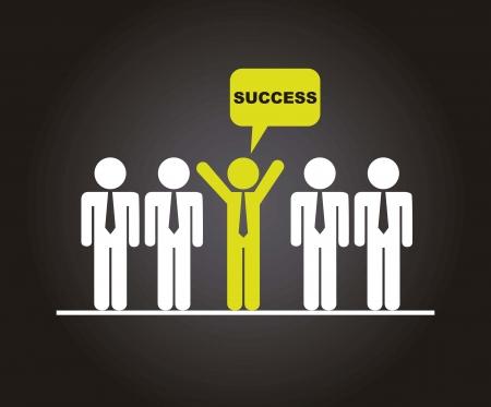 reuniones empresariales: Businesman sobre fondo negro