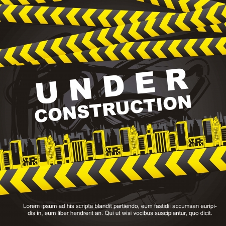 under construction background with buildings Vector