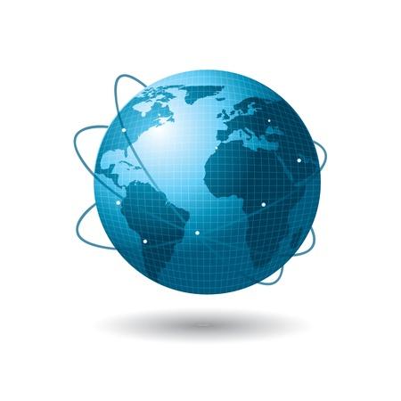 kontinentální: Velký propojeném světě greating nápady a podnikání nad bílým pozadím