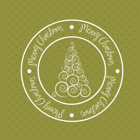 christmas seal over green background. vector illustration Vector