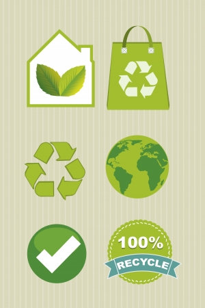 recycle icons over beige background. vector illustration Vector