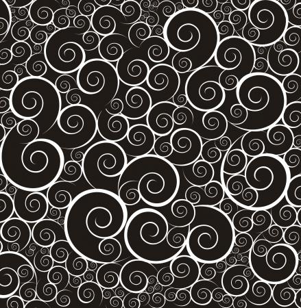 cliche: negro y fondo blanco ornamento. ilustraci�n vectorial Vectores