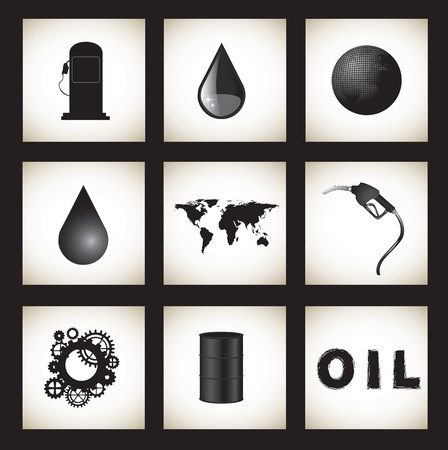 toxic substance: oil icon in the world over white background
