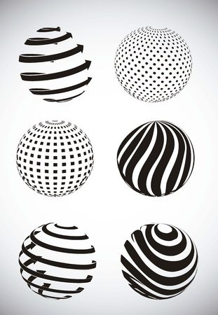 black abstract sphere over gray background. vector illustration Stock Vector - 15540154