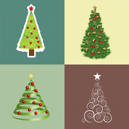 Different Christmas trees  Vector