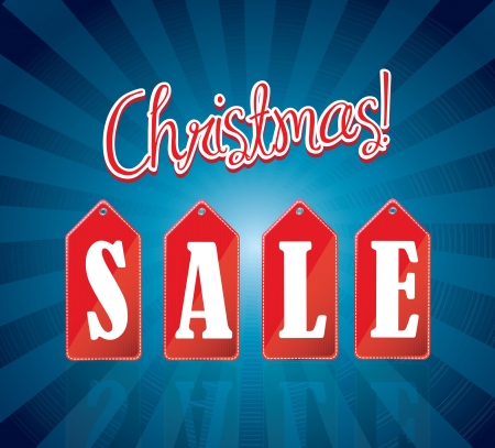 great Christmas sale over blue background  Vector