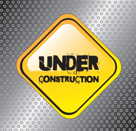 Under construction background over a road signal Stock Vector - 15667068