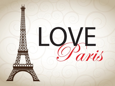 eiffel: paris cards as symbol love and romance travel
