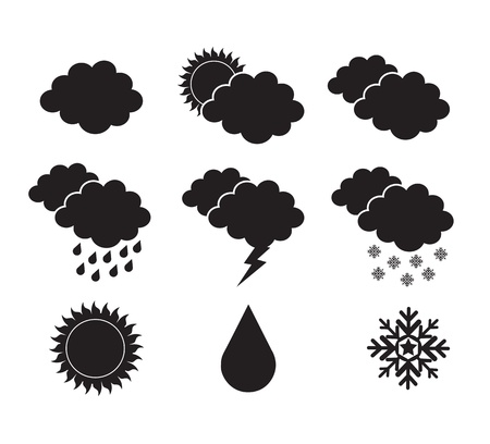 skies silhouettes in different states over white background Stock Vector - 15666894