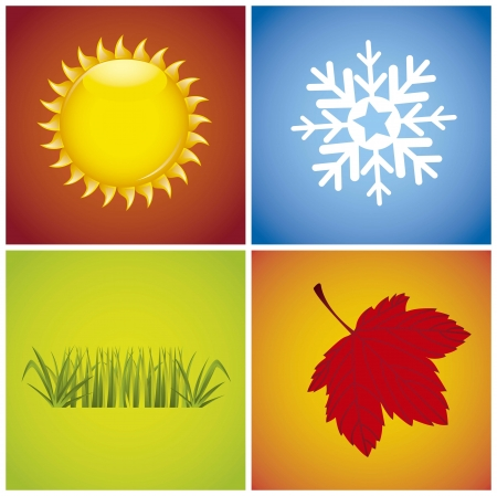 colorful  weather stations background, four. Vector