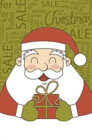 etiquete: santa claus christmas sale, vintage style