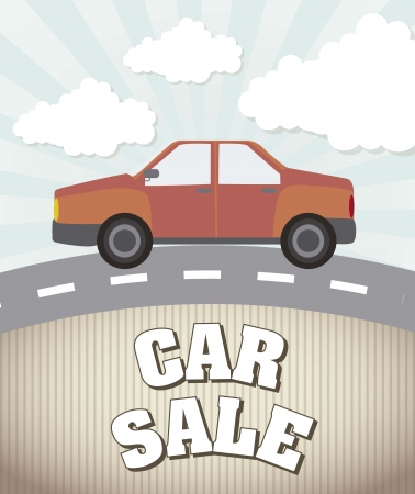 car sale announcement, vintage style. vector illustration Vector