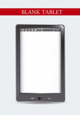 blank tablet computer over gray background. Stock Vector - 15668020