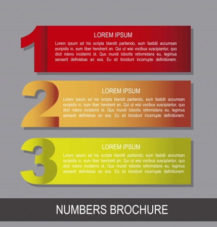 colorful numbers brochure over gray background.  Vector