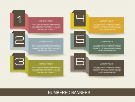 numbers brochure vintage over beige background.  Vector