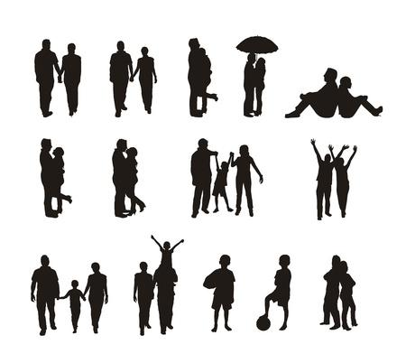 silueta masculina: siluetas de personas aisladas sobre fondo blanco.