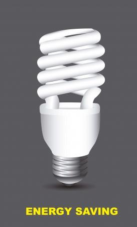 thrift: bombilla el�ctrica sobre el ahorro de energ�a fondo gris,. Vectores