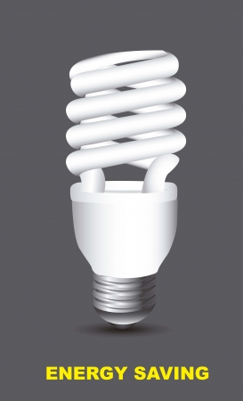 electric bulb over gray background, energy saving. Vector
