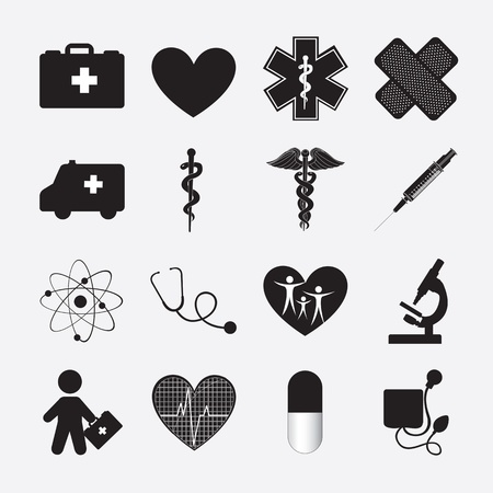 doctor tablet: silhouette of Health icon over white background