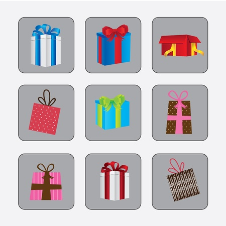 Differents gifts over gray background vector illustration Stock Vector - 15888738