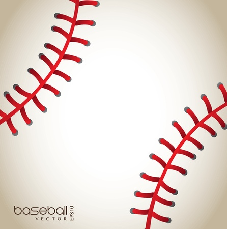 baseball background with red lines vector illustration Vector