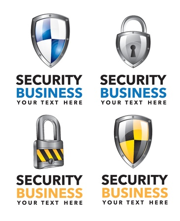 guard house: Differents security business icons over white background vector illustration Illustration