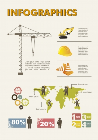 Set elements of infographics, construction. vector illustration Stock Vector - 15888667