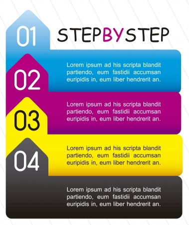 step by step: template of numbers, step by step. vector illustration Illustration