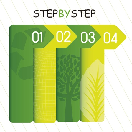 green template of numbers, step by step. vector illustration Stock Vector - 15888734
