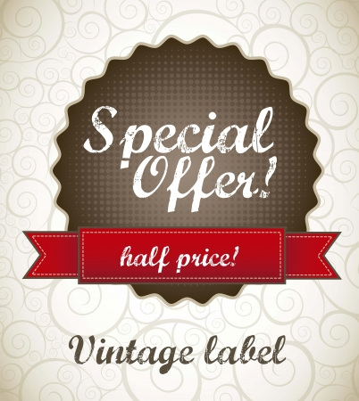 special offer label, vintage style. vector illustration Stock Vector - 15888657