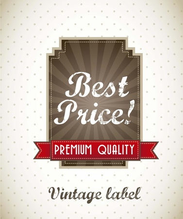 best price label, vintage style. vector illustration Stock Vector - 15888727