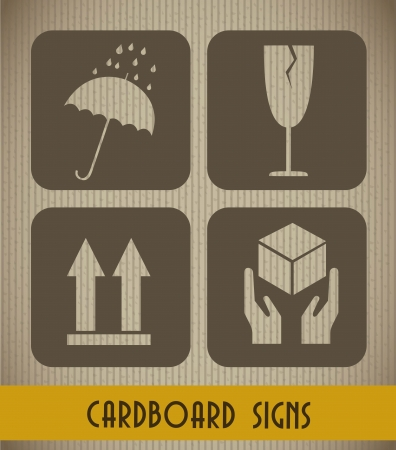 cardboard signs background, vintage style. vector illustration Stock Vector - 15888612