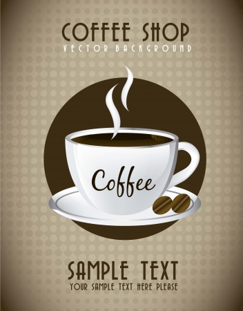 coffe cup over announcement, vintage style. vector illustration Vector
