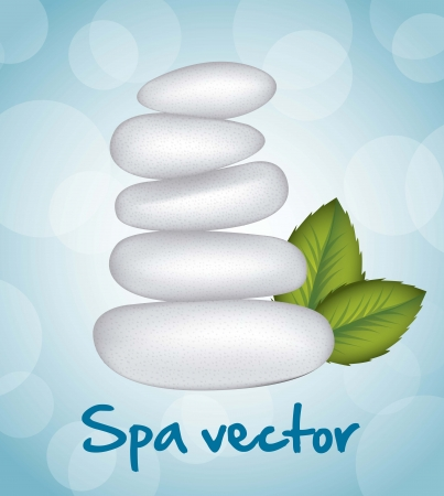 white stones spa over blue background. vector illustration Stock Vector - 15888365