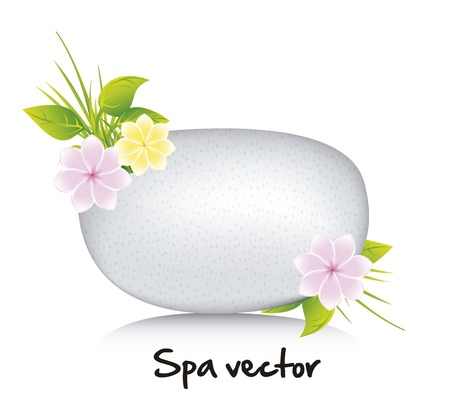 white stones spa over white background. vector illustration Stock Vector - 15888607