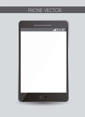 blank phone over gray background. vector illustration Stock Vector - 15888811
