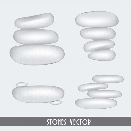 white stones spa over white background. vector illustration Stock Vector - 15888562