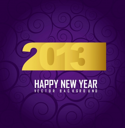 2013 year over purple background. Stock Vector - 16032189