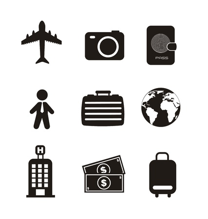travel business icons isolated over white background. vector Stock Vector - 16123977